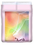 Nature's New Art Over My Head New Years Morning 2014 Duvet Cover