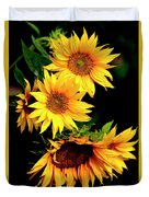 Natures Sunflower Bouquet Duvet Cover