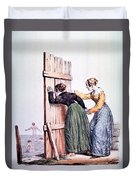 Naughty Ladies 19th Century Duvet Cover