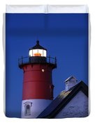 Nauset Lighthouse Night Duvet Cover