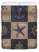 Nautical Burlap Duvet Cover