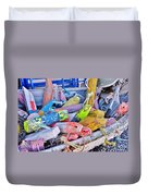 Nautical Riot Of Color Duvet Cover