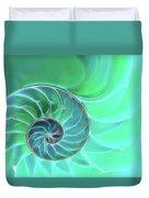 Nautilus Aqua Spiral Duvet Cover