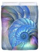 Nautilus Shells Blue And Purple Duvet Cover