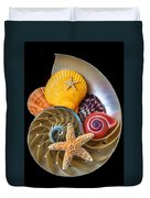 Nautilus With Sea Shells Duvet Cover