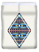 Navajo Blue Pattern Art Duvet Cover