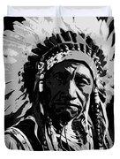 Navajo Indian Chief Duvet Cover