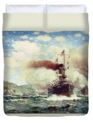 Naval Battle Explosion Duvet Cover by James Gale Tyler
