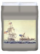 Naval Engagement Between The Uss Frigate Constitution And Hms Frigate Java Duvet Cover
