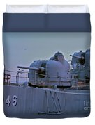 Naval Gun Duvet Cover