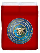 Naval Special Warfare Group Two - N S W G-2 - On Red Duvet Cover
