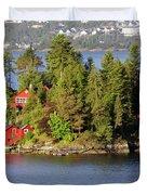 Navigating The Hjeltefjorden In Hordaland Duvet Cover