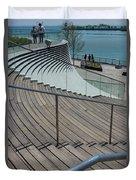 Navy Pier Stairs Duvet Cover