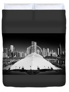 Navy Pier Wheel Duvet Cover