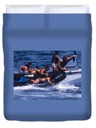 Navy Seals Practice High Speed Boat Duvet Cover