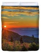 Nc Mountain Sunrise Blue Ridge Mountains Duvet Cover