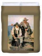 N.c. Wyeth: The Pay Stage Duvet Cover