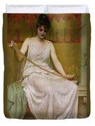 Neaera Reading A Letter From Catullus Duvet Cover by Henry John Hudson