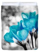 Near Bloom Blue Duvet Cover