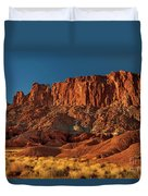 Near The Fluted Wall In Capitol Reef National Park Utah Duvet Cover