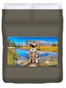 Near The Lake In The Mountain 4 Duvet Cover