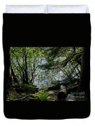 Near Water Of The Forest Lake. Duvet Cover