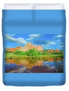 Nearly 2 Million People Rollick In This World-famous City Park Every Year.  Duvet Cover