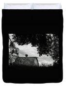 Nebraska - Barn - Black And White Duvet Cover