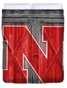 Nebraska Cornhuskers Barn Doors Duvet Cover