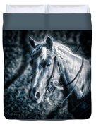 Nebraska Rodeo Roping Horse... Duvet Cover