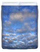 Nebraskan Altocumulus Clouds Duvet Cover
