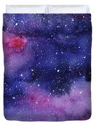 Nebula Watercolor Galaxy Duvet Cover