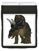 Nedoceratops On White Duvet Cover