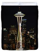 Needle At Night Duvet Cover