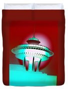 Needle In Red Duvet Cover