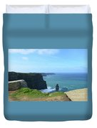 Needle Rock Formation With Blue Skies On The Cliff's Of Moher Duvet Cover
