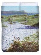 Needles From Hengistbury Head Duvet Cover