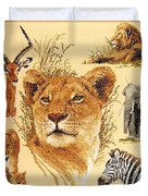 Needlework - African Animals Duvet Cover