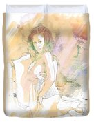 Neemah African American Nude Girl In Sexy Sensual Painting 4767. Duvet Cover