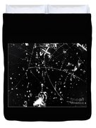 Negative K Mesons, Bubble Chamber Event Duvet Cover