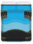 Negative Stair 45 Blue Background Architect Architecture Duvet Cover