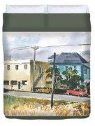 Neighborhood Corner Duvet Cover