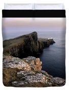 Neist Point Lighthouse, Isle Of Skye, Scotland Duvet Cover