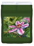 Nelly Moser Clematis Duvet Cover