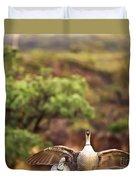 Maui Hawaii Haleakala National Park Nene Hawaiian State Bird Duvet Cover