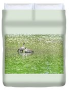 Nene On Green Pond Duvet Cover