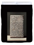 Neo-babylonian Clay Tablet Duvet Cover