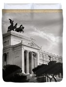 Neoclassical Architecture In Rome Duvet Cover by Stefano Senise