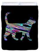 Neon Cat Cool Duvet Cover