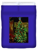 Neon Christmas Tree Duvet Cover